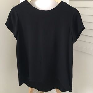 Cuyana, Silk, Short Sleeve Blouse, XS, Black